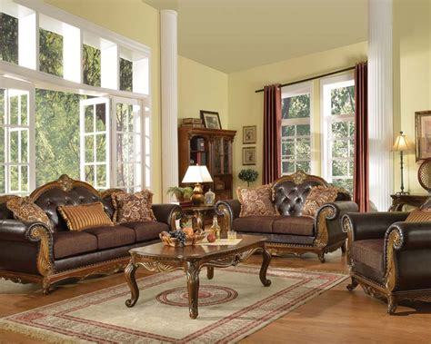 traditional sofa sets traditional sofa set w 3 pillows dorothea by acme ac51590set