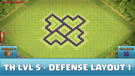 best wall pattern in clash of clans clash of clans fun wall art th5 defense layout 1 youtube