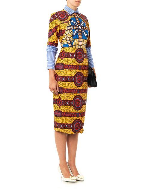 Dress Barbera barbara layered shirt printed dress stella jean