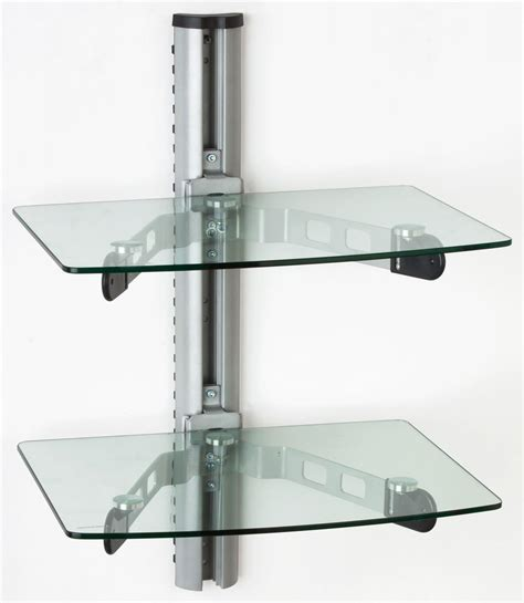 shelves wall mount wall mounted glass shelves a v component stand
