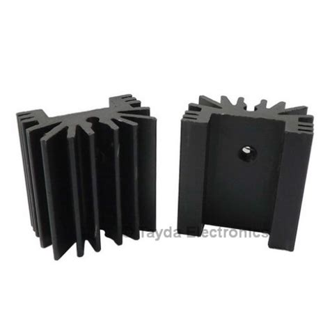 Heatsink Heat Sink Black Metal To Thermal Contact Cooling Electronic 2 Heat Sink To 220 14 Fins 25mm Aluminium Black