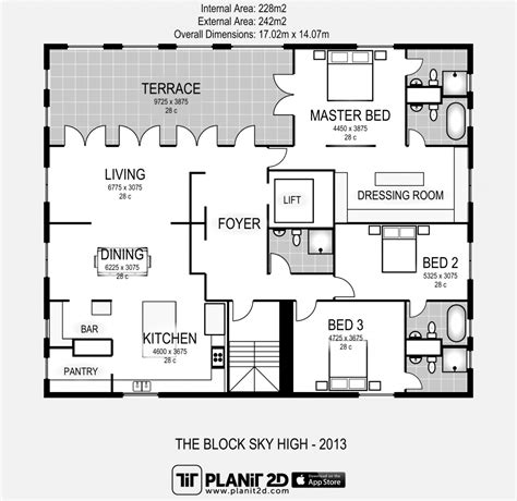 block home plans the block sky high apartment floor plan elements at home