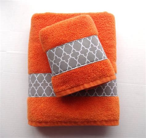 orange towels bathroom pick your size orange towels grey towels towels orange