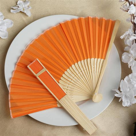 how to make a hand fan with fabric 50 pcs hand fans summer silk fabric folding wedding favors