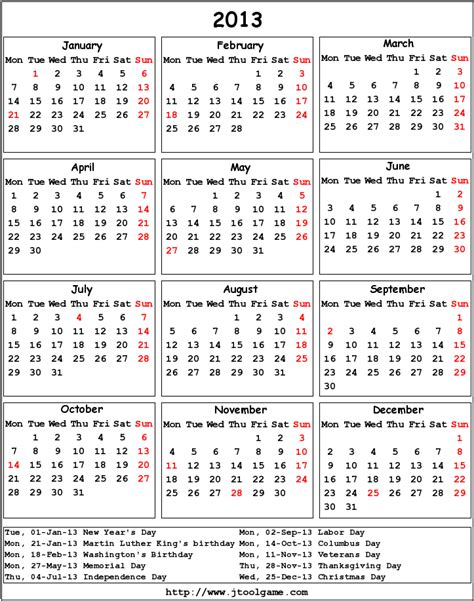 2013 calendar template calendar 2013 with holidays new calendar template site
