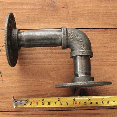 34 Inch Rucikasambungan Pipa 2pcs 3 4 inch iron shelf support flange industrial pipe bracket 13x16cm sale banggood
