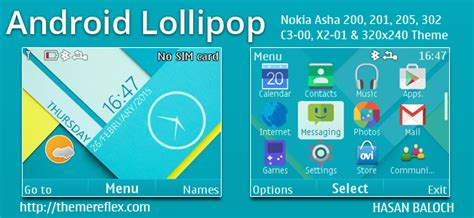 nokia c3 android themes android lollipop live theme for nokia c3 00 x2 01 asha