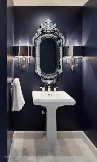 Navy Powder Room Navy Blue Bathroom Contemporary Bathroom Holly