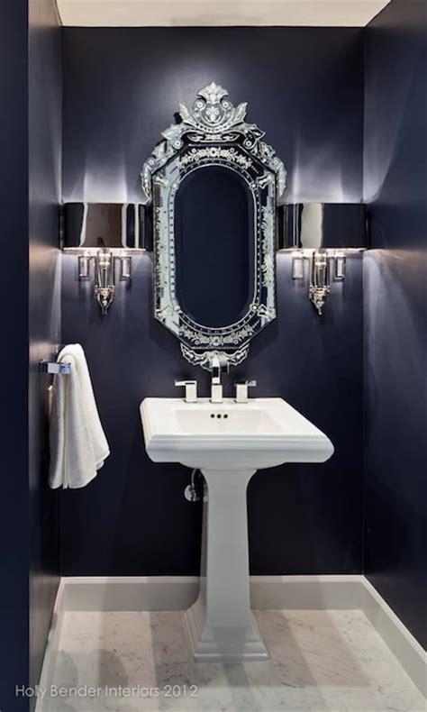 Navy blue bathroom contemporary bathroom style at home