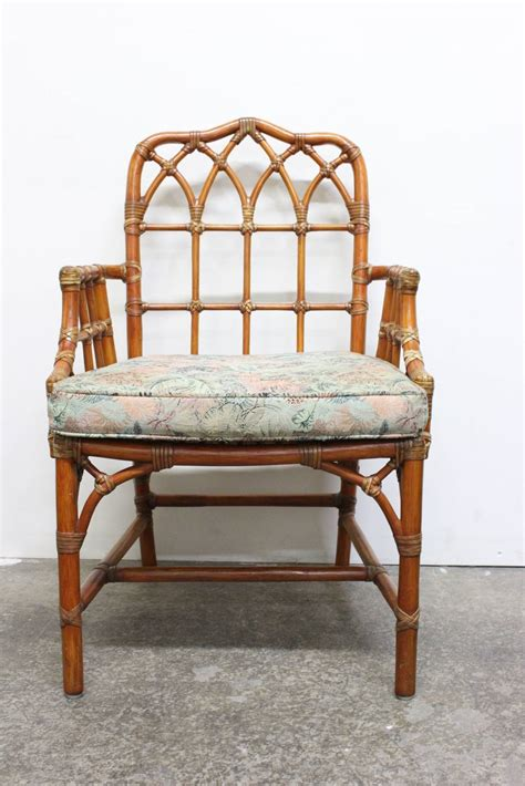 Mcguire Dining Chairs Set Of Six Mcguire Dining Chairs At 1stdibs
