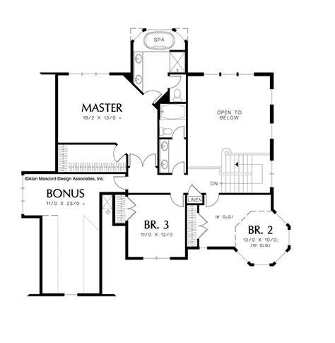 upper floor plan country house plan 22128 the kensington 2518 sqft 4