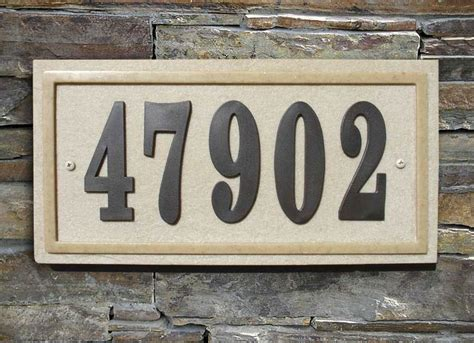 House Number Sign by Do It Yourself Personalized House Number Sign Kit