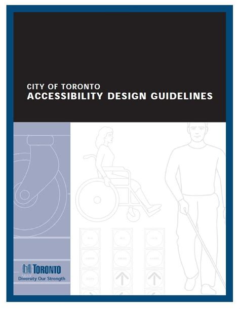 Accessibility Design Guidelines Toronto | special projects studies and consultation sph associates