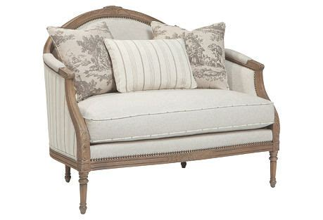 beautiful settees claire 47 quot settee beige ivory beautiful settees and chairs