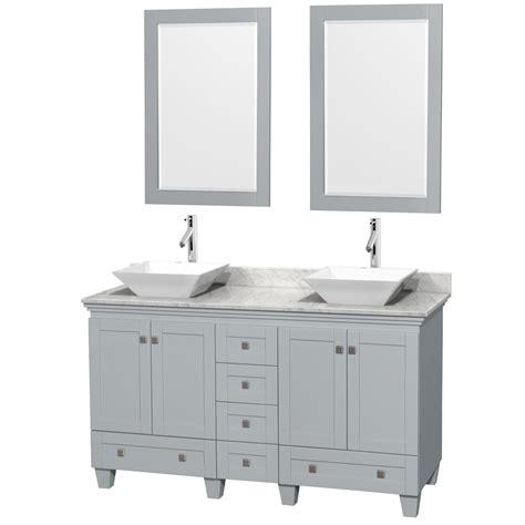 28 inch double kitchen sink accmilan 60 inch double sink bathroom vanity in grey
