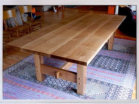 craftsman style dining table quarter sawn white oak dining table in the craftsman style