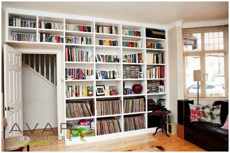 floor to ceiling bookcase with desk ƹӝʒ bespoke bookcase ideas gallery 5 north london uk