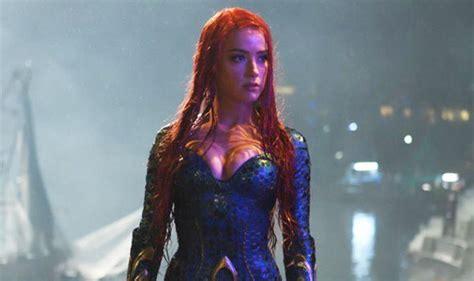 actress in aquaman 2018 aquaman incredible first look at amber heard as mera