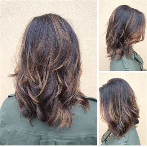 hair in front shoulder length in back medium layered hair back view www pixshark com images
