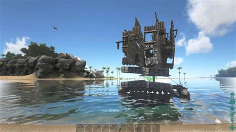 ark cannon boat ark survival evolved jolly s first raft the