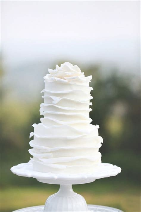 White Wedding Cake by 40 And Simple White Wedding Cakes Ideas