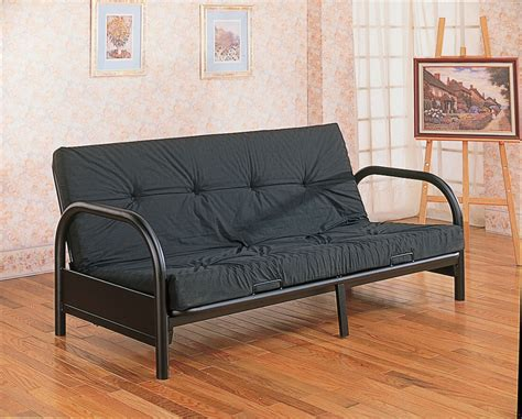 black futon sofa bed black metal futon bed by global trading