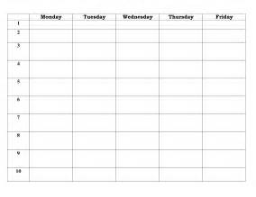 5 day work week calendar template 7 best images of 5 day work week monthly calendar