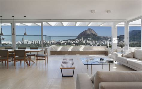 pen house elegant modern penthouse with large terrace in rio de janeiro idesignarch interior