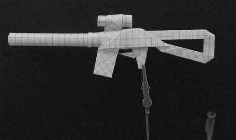 Origami Paper Gun - origami guns submachine gun by solidmark on deviantart