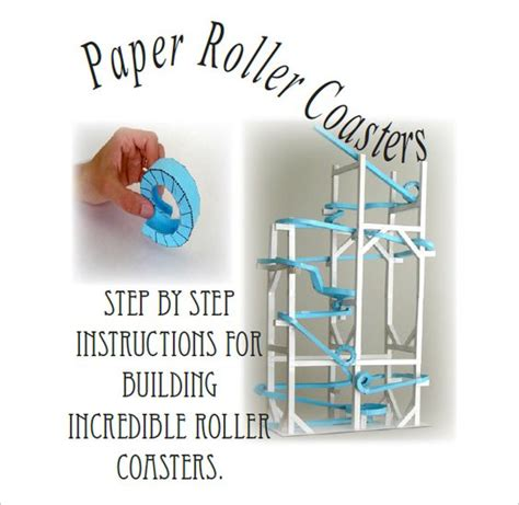 How To Make A Coaster Out Of Paper - 7 paper roller coaster templates free word pdf
