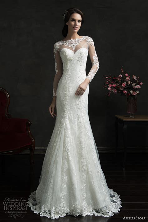 Wedding Dress Lace Overlay by Ameliasposa 2015 Wedding Dresses Wedding Inspirasi