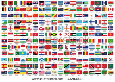 african flags with names