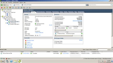 vmware console vmware site recovery manager 5 recovery