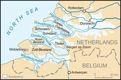 netherlands flood map the sea flood of 1953 environment society portal