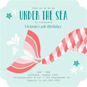 What To Include In A Bridal Shower Invitation by How To Throw A Mermaid Birthday Party Invite Shop Blog