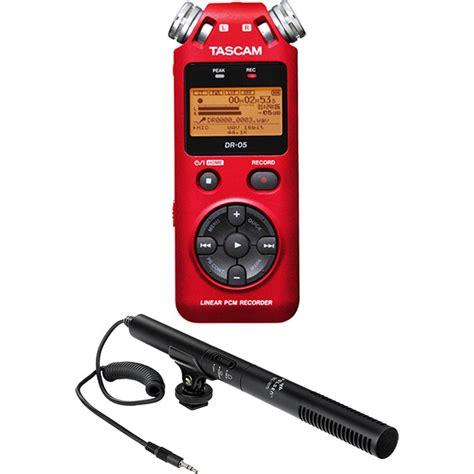 Tascam Dr 05 Handheld Stereo Recorder tascam dr 05 digital audio recorder kit with shotgun microphone