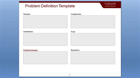 meaning of templates in critical thinking step 1 write the problem phil