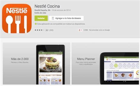 nestl cocina nestl 233 cocina app con de recetas gratuitas