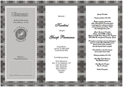 desain undangan pernikahan hitam desain undangan pernikahan hitam putih ekkiyalkhahiri