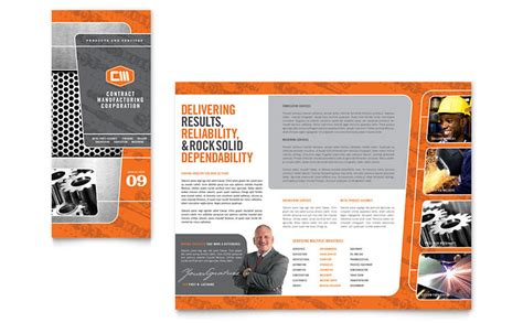 engineering brochure templates free manufacturing engineering tri fold brochure template