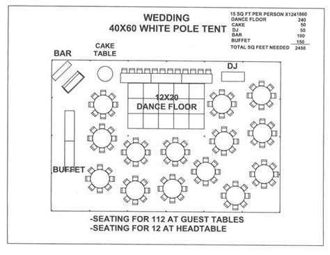 tent wedding layout ideas 17 best images about wedding tent layouts on pinterest