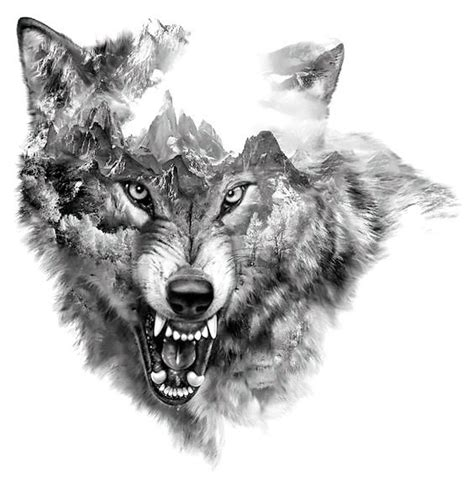 snarling wolf tattoo cool snarling wolf design