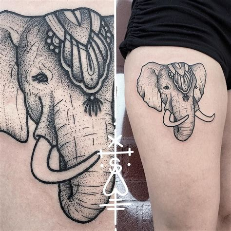 elephant tattoo on thigh circus elephant on thigh circus elephant tattoos