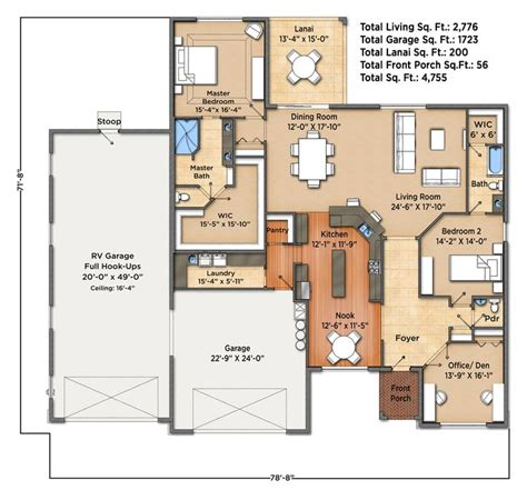 Home Plans With Rv Garage by Ranch House Plans With Rv Garage House Plan 2017