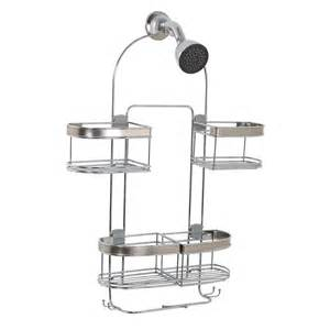hanging bathtub shower caddy chrome organizer expands