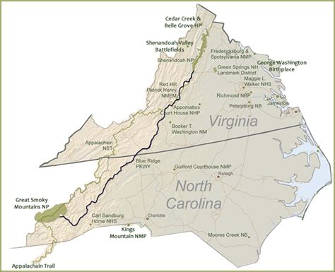 blue ridge parkway virginia map blue ridge parkway overview map