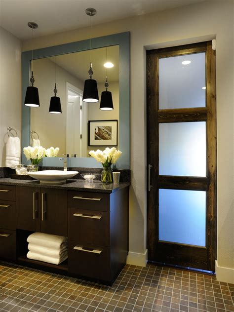 mirror bathroom door photos hgtv