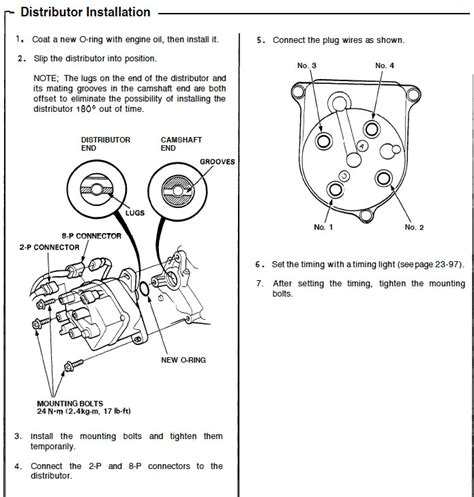d16z6 distributor wiring diagram engine wiring diagram