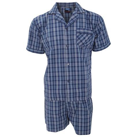 Sanbonnet Shortpants Pajamas mens patterned sleeve shirt and shorts pajama nightwear set ebay