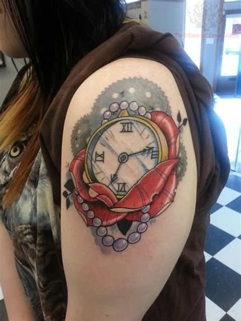 nice tattoo design 61 stunning clock shoulder tattoos